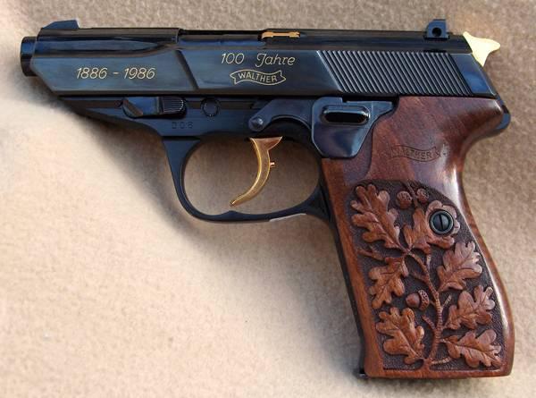 Walther p5 100 jahre, 1886 - 1986, kal. 9mm para. varenr.: p5249