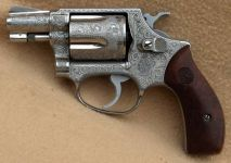 "S&W M.60 2"" Chiefs Special .38 Special. Fuldgraveret"