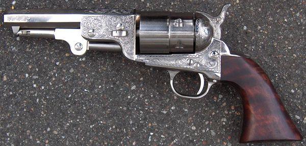 Colt 1851 Reb Nord Navy Sheriff, nickel finish