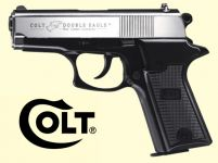 Colt Double Eagle Combat Commander. Nikkel/sort finish.