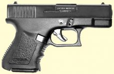 Glock 26. Blåneret finish.