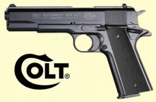 Colt Government 1911 A1. Blåneret finish.