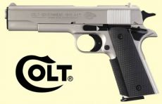 Colt Government 1911 A1. Nikkel finish.