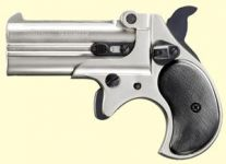 Derringer, nikkel finish.