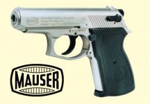 Mauser HSc Mod. 90. Satin nikkel finish.