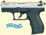 Walther P22. Nikkel finish.