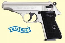 Walther PP. Nikkel finish.